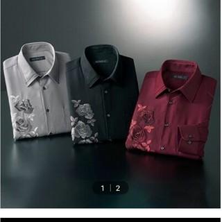 【3色組】<マクベル>バラ刺しゅうエレガントシャツ(その他)