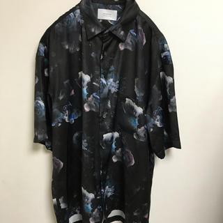 STUDIOUS - ステュディオス studious 花柄シャツ 柄シャツ ダークフラワーシャツ