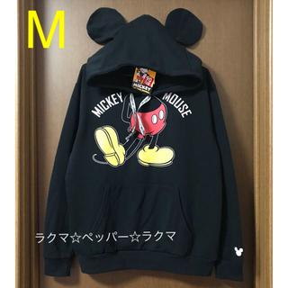 ミッキーマウス - ミッキー 耳付き パーカー M