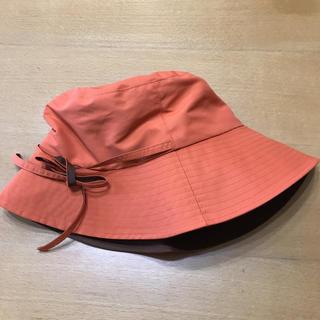 オレンジ折り畳み帽子(キャップ)