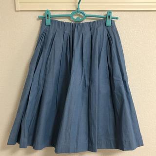 ナチュラルビューティーベーシック(NATURAL BEAUTY BASIC)のnatural beauty basic デニムスカート(ひざ丈スカート)