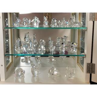 スワロフスキー(SWAROVSKI)のSWAROVSKI 17点スワロフスキー 可愛いクリスタル動物達置物 & 飾り棚(ガラス)
