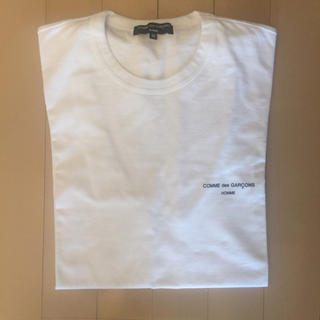 COMME des GARCONS HOMME PLUS - コムデギャルソン オム ロゴ Tシャツ ホワイト