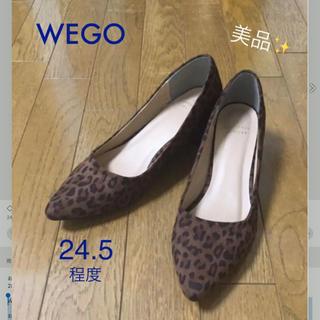 ウィゴー(WEGO)のwego美品✨レオパード柄パンプス ポインテッドトゥ(ハイヒール/パンプス)