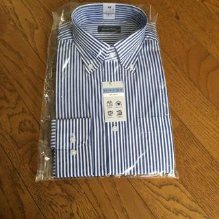 アオキ(AOKI)のボタンダウン ネイビー ストライプ  ワイシャツ 長袖 メンズ(シャツ)