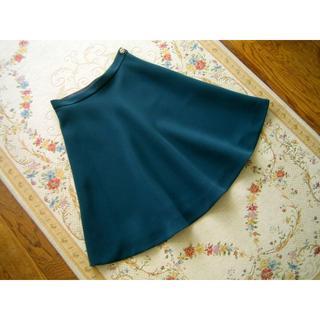 ラトータリテ(La TOTALITE)のLa TOTALITE ラトータリテ グリーン膝丈スカート 36サイズ(ひざ丈スカート)