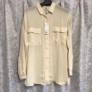 ユニクロ(UNIQLO)の新品!ユニクロ*シフォンシャツ*ドレープシャツ*XLサイズ(シャツ/ブラウス(長袖/七分))