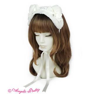 Angelic Pretty - Angelic Pretty Cross Catヘッドドレス 白