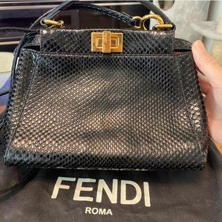 FENDI - ピーカブー ミニ フェンディ パイソン ブラック 黒 美品