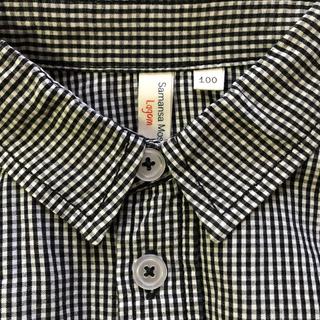 サマンサモスモス(SM2)のSamansaMos2Lagon ギンガムチェックシャツ100(ブラウス)