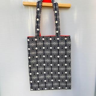 ブラック サブバッグ バオバブ神戸 アフリカ布 ハンドメイド(ショルダーバッグ)
