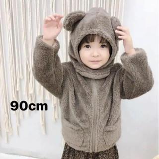 プティマイン(petit main)の海外子供服 韓国子供服 アウター フリース 帽子 セット(ジャケット/上着)