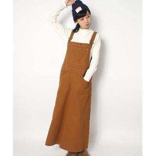 アズノウアズ(AS KNOW AS)のジャンパースカート キャメル 美品(ロングワンピース/マキシワンピース)