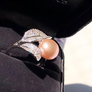 新品 パールリング 指輪 ライトパープル(リング(指輪))