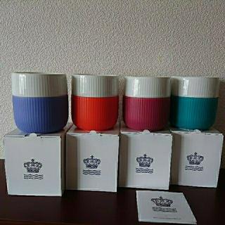 ロイヤルコペンハーゲン(ROYAL COPENHAGEN)のまゆか様専用 ロイヤルコペンハーゲン フルーテット コントラストマグ (グラス/カップ)