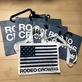 ロデオクラウンズ(RODEO CROWNS)のロデオクラウンズ 紙袋 ショップ袋 (5点セット)(ショップ袋)