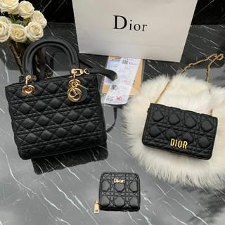 Dior - DIOr 大人気 ハンドバッグ ショルダーバッグ 財布 3点セット