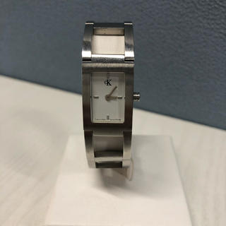 カルバンクライン(Calvin Klein)のカルバン・クライン 白文字盤 レディース腕時計(腕時計)
