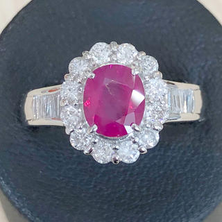 ✨希少✨Burma産❣️ルビー ダイヤ ダイヤモンド Pt900 リング 指輪(リング(指輪))