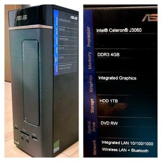 エイスース(ASUS)のASUS K20CE-J3060 (最終値下❗️)(デスクトップ型PC)
