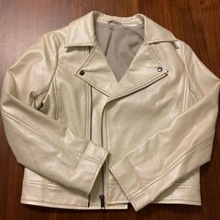 GU - ライダースジャケット140 オフホワイト