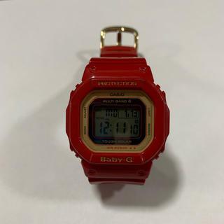 ベビージー(Baby-G)の20周年記念モデル Baby G 電波ソーラー時計 レッド(腕時計)