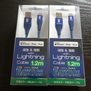 定価以下! 新品未使用! 横浜DeNAベイスターズ 充電ケーブル2本セット!