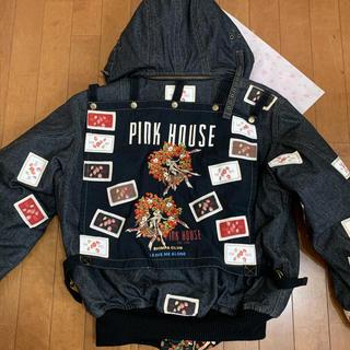 PINK HOUSE - ピンクハウス★いちごリース ブルゾン ブラックデニム