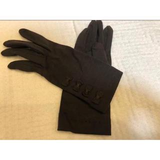 アンテプリマ(ANTEPRIMA)の★新品同様★ アンテプリマ   ウール系 可愛いリボン 手袋 ブラウン★(手袋)