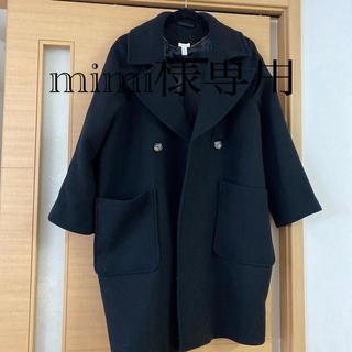 エイチアンドエム(H&M)のH&M ブラック コート(ロングコート)