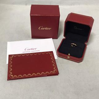 カルティエ(Cartier)のカルティエ 1Pダイヤリング K18PG 4号 ピンキー (リング(指輪))