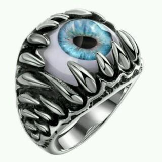 目ん玉 眼球リング シルバー 24号(リング(指輪))