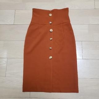 ロイヤルパーティー(ROYAL PARTY)のロイヤルパーティー♡マルチボタンタイトスカート♡オレンジ(ひざ丈スカート)