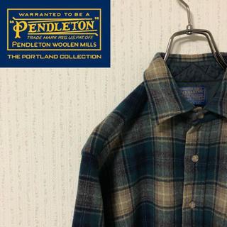 ペンドルトン(PENDLETON)の【激レア】ペンドルトン☆チェックネルシャツ 7分丈 アメリカ製(シャツ)