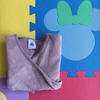 プチバトー(PETIT BATEAU)のプチバトー 薄紫色の部屋着トップス(カーディガン)