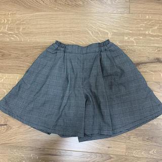 GU - GU チェック柄 パンツスカート  140