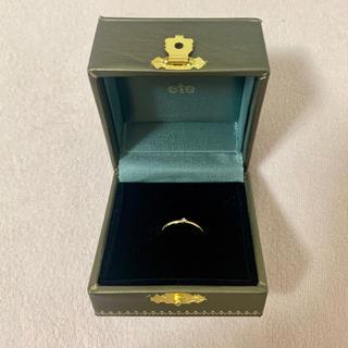 エテ(ete)の現行品 ete エテ K10 ダイヤモンド ピンキーリング 5号(リング(指輪))