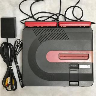 シャープ(SHARP)のレア SHARP AN-500B ツインファミコン本体 カセット&ディスク一体型(家庭用ゲーム機本体)