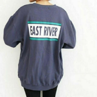 TODAYFUL - canal jean❤️EAST RIVERロゴトレーナー