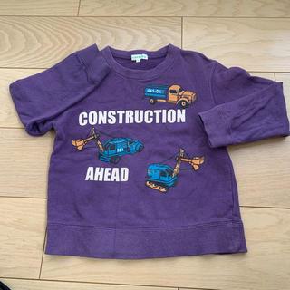 サンカンシオン(3can4on)の3can4on トレーナー 120 紫(Tシャツ/カットソー)