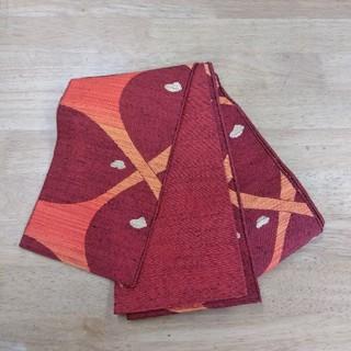 半幅帯 オレンジ 木綿(帯)