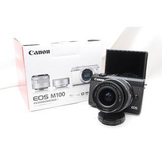 Canon - ♡WiFi&自撮り&女性人気♡Canon EOS M100 レンズキットブラック