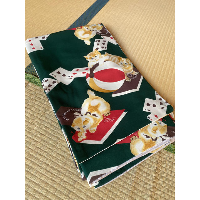 ふりふ(フリフ)のふりふ 猫トランプ 着物 小紋 レディースの水着/浴衣(着物)の商品写真