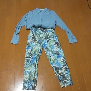 ラグナムーン(LagunaMoon)のラグナムーン水色シャツ  セットアップ(セット/コーデ)