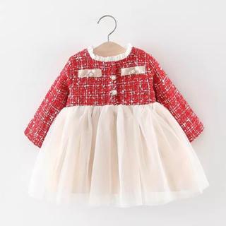 babyGAP - 新品未使用 韓国子供服 ツイードカラーワンピース