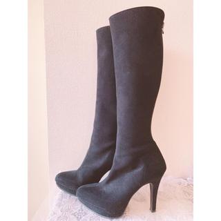 エスペランサ(ESPERANZA)の美品 ESPERANZA エスペランサ 美シルエット ロングブーツ(ブーツ)