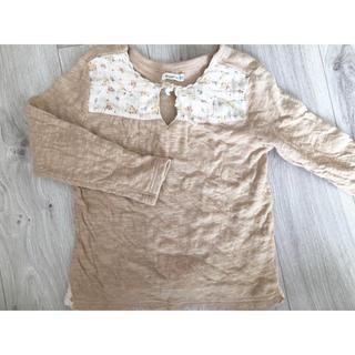Biquette - ①ビケット 花柄 Tシャツ 長袖 カットソー