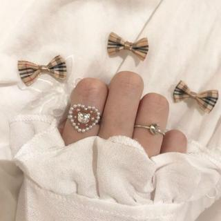 くまさんのチョコ リング 指輪 ハンドメイド ヴィンテージ アンティーク レトロ(リング)