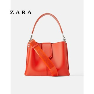 ザラ(ZARA)のZARA ザラ クロスボディバッグ ボディバッグ ショルダーバッグ オレンジ(ボディーバッグ)