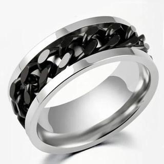 鎖リング・ブラック(リング(指輪))